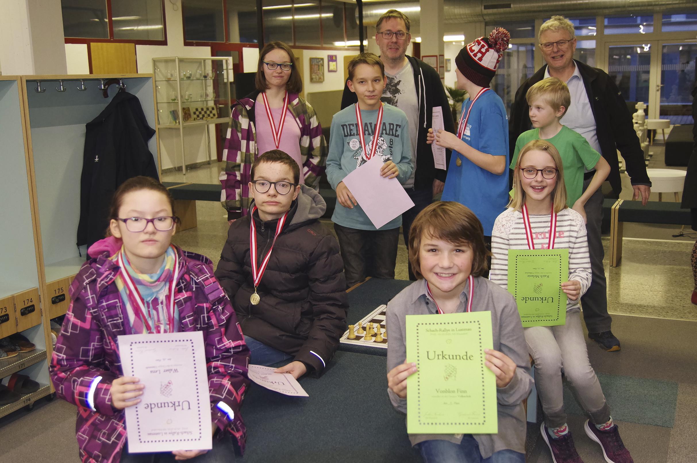 TeilnehmerInnen am Schulenturnier in Lustenau
